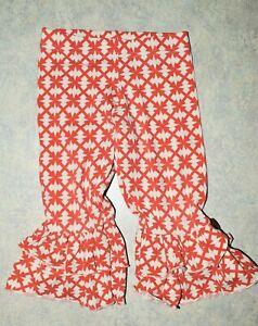 Girl size 4 Matilda Jane Platinum Secret Fields Orange Sunset Benny Ruffle Pants
