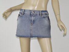 DIESEL Light Blue Distressed Denim Micro Mini Zipper Detail Skirt 31 M