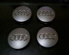 4X Cache Moyeu Centre Roue Embleme Jante Logo insigne Audi 60MM Gris 4B0 601 170