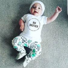 Newborn Kids Baby Little Brother Romper Bodysuit Big Brother  Cotton T-shirt