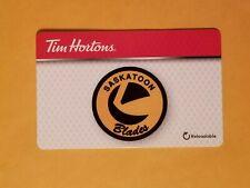 2019 Tim Hortons Saskatoon Blades CHL WHL Empty Gift Card Reloadable $0 Balance
