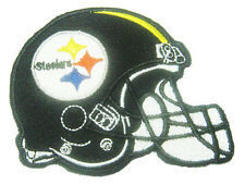 New NFL Pittsburgh Steelers Football Logo Helmet embroidered iron on patch. (i5)