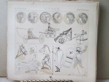 Vintage Print,GREECE,COSTUMES,MILITARY,Didot,19th Century