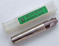 Flachsenker, Senker, Kegelsenker Fasenfräser VHM 14,0 x 10,0 mm - 45°, Z3, neu