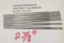 """(6) Hi-Per Aluminum Axles 5:40 thread Vintage 1960's Slot Car NOS  2 7/8"""" Long"""