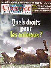 Courrier International   N°663   17 Juil 2003 : Quels droits pour les animaux