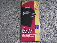 "Avery 4385 Dark T-shirt Transfers for Inkjet Printers 4"" x 6"", Pack of 10 Sheets"