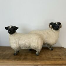 More details for coopercraft figuring ram & sheep black-faced country collectable