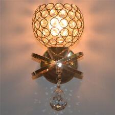 Modern Crystal Led Wall Light Lamp Sconce Bedroom Living Room Hallway Lighting
