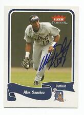 ALEX SANCHEZ Autographed Signed 2004 Fleer Tradition card Detroit Tigers COA