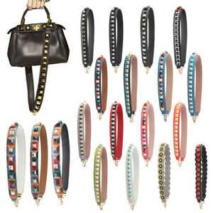 Replacement PU Leather Straps Colorful Flower Rivet for Bucket Bag Clutch 90cm