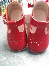 Angel Brand girls red leather dress shoe size 7