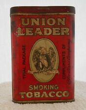 RARE UNION LEADER TOBACCO Pocket TIN,Trial Package Compliments ofP.Lorillard Co
