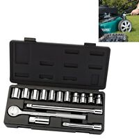 "NEW Draper 1/2"" DR 15pc Metric Socket Set Inc Case 10-22mm sockets + Extensions"