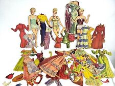Betty Gable- Paper Doll Collection-Full Color Retro Fashion Dolls Clothes Euc