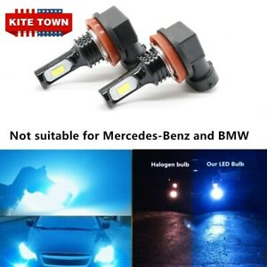 2x 100W H11 H8 H9 8000K High Power CSP LED Fog Lights Driving Bulbs DRL US