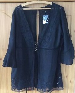 TOPSHOP Black Beach Cover-Up. Size S. BNWT