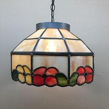 Vintage Multicolour Studio Art Stained Glass Ceiling Light Lamp Mid Century Mod