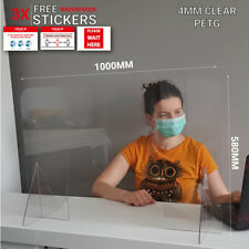 Office Desk Sneeze Cough Guard, Screen, Virus Protection, 1000 x 580MM
