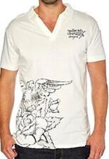 polo manches courtes ED HARDY christian audigier blanc cassé taille M - neuf