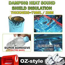 "Car Vibration Damping Mat 110"" x 18"" Heat Insulation Soundproof Butyl Rubber Pad"