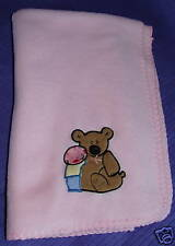 "BLANKETS AND BEYOND PINK BLANKET BEST FRIENDS 36""X29"""
