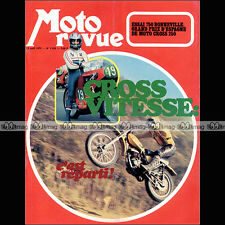 MOTO REVUE N°2120 MOTOBECANE D 125 L PEUGEOT GT 10 TRIUMPH 750 BONNEVILLE TR 140