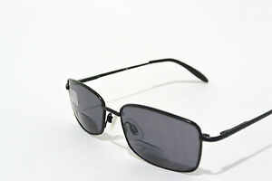 BIFOCAL reading sunglasses with SPRING HINGES power +2.00 BLACK Frame