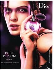 PUBLICITE ADVERTISING  2006   DIOR   Parfum pure Poison