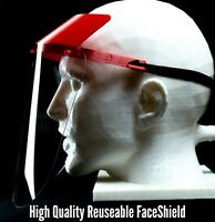 Safety Full Face Shield Guard Protector Mask Clear+Head Band Elastic Reusable US