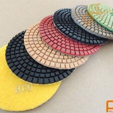 "9pc 5""Diamond Polishing Pads Wet/Dry set & one M14 Backer Pad Granite Concrete"