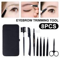 8PCS Eyebrow Grooming Kit, Scissors & Tweezers Trimming w/Eyebrow Shaping Comb