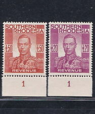 Southern Rhodesia 1937 KGVI £20 & £50 Revenue MNH Gummed Reproduction Stamp sv