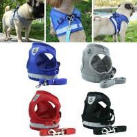 Harness Dog Cat Walking Reflective Pet Vest Leash Lead New Adjustable J1W6
