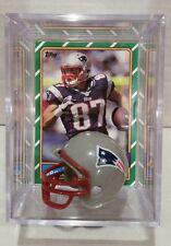 Rob Gronkowski New England Patriots Mini Helmet Card Display Case Auto Gronk