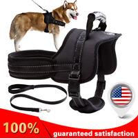 SOFT No Pull Dog Pet Premium Harness Adjustable Vest & Leash Outdoor Walking