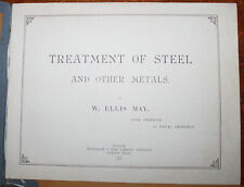 1896 Treatment of Steel & Other Metals W Ellis May Letter Re Vickers Steel 1893