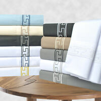 Regal Embroidery 6-Piece Sheet Set, Duvets covers OR Pillowcases, GIFT BOX
