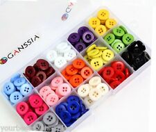 4 Hole Buttons, Multi color Button, 300Pcs, Box of Buttons, Round Bottons Lot