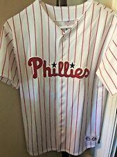 Youth Majestic MLB Philadelphia Phillies Chase Utley Baseball Jersey XL
