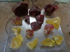 Glass Rock Slag Pretty Clear Red/Yellow 5.0 lb Rocks Gg54 Landscaping Aquarium