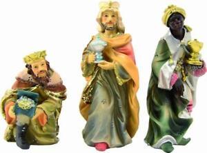 Miniatur Heilige drei Könige Höhe ca 3,2 cm NEU Weihnachtsfiguren Holzfiguren Se