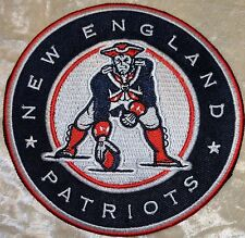 """New England Patriots NFL 4"""" Circle Iron On Embroidered Patch~US Seller~FREE Ship"""