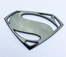 Batman V Superman Superman Premium Black Chrome 3d Automotive Decal Emblem