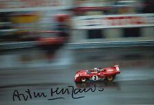 Arturo Merzario Firmato a Mano 12x8 FOTO FERRARI LE MANS 8.