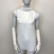 Atmosphere Ladies Light Beige Sleeveless Keyhole Chiffon Blouse Top UK Size 8