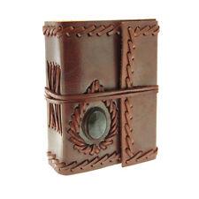 Fair Trade Handmade Mini Stoned Leather Journal Diary