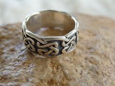Sterling Silver Celtic Knotwork Eternity Band Ring