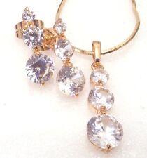 18k gelbes Gold überzogener klar künstlicher Diamant Damen