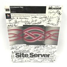 Vintage Microsoft Site Server 2.0 Enterprise Edition 1996 Signed Factory Sealed